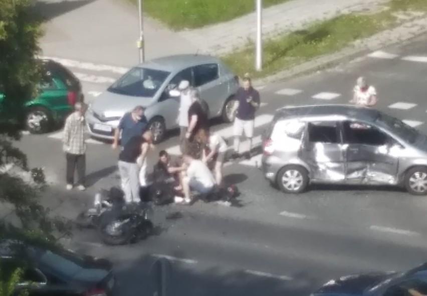Do wypadku doszło na skrzyżowaniu ul. Krańcowej i Elektrycznej