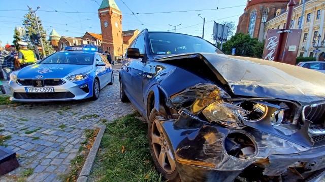 Wypadek przy Hali Targowej we Wrocławiu 9.09.2021