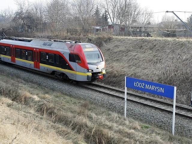 Przy stacji Łódź Marysin jest jeden tor. Ma być wybudowany drugi, aby pociągi mogły się mijać