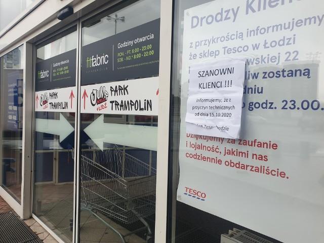 Łodzianie nie zrobią już zakupów w Tesco przy ul. Widzewskiej. W czwartek (15 października) sklep niespodziewanie został zamknięty.Czytaj więcej na następnej stronie
