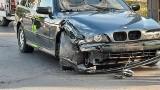Kolizja na ul. Franciszkańskiej w Koszalinie. BMW zderzyło się ze skodą ZDJĘCIA