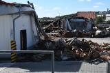 Po pożarze Lidla w Kielcach. Spalony market zostanie odbudowany. Pogorzelisko czeka na uporządkowanie (WIDEO, zdjęcia)