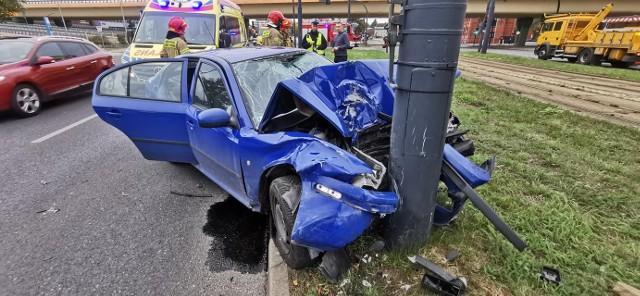 Do wypadku doszło w niedzielę 19 września 2021 na u. Jagiellońskiej 51 w Bydgoszczy