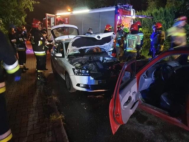 Wypadek w Giebułtowie w gminie Wielka Wieś