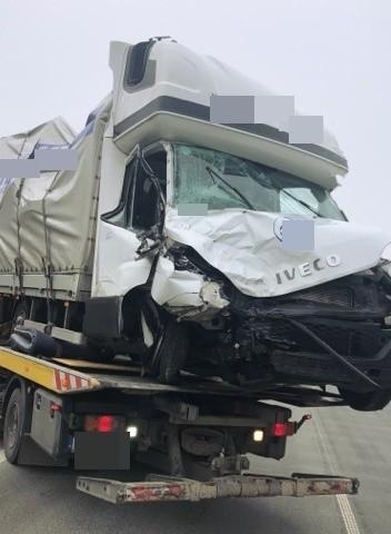 Wypadek na S8 w miejscowości Budykierz. Doszło do dwóch zdarzeń drogowych, 14.02.2020