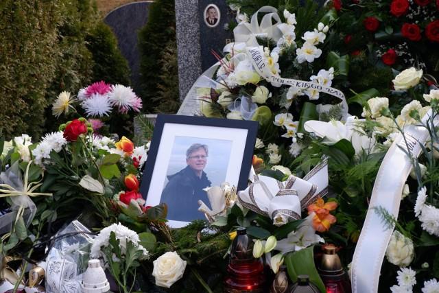Pogrzeb Wojciecha Potockiego na cmentarzu w Białymstoku.