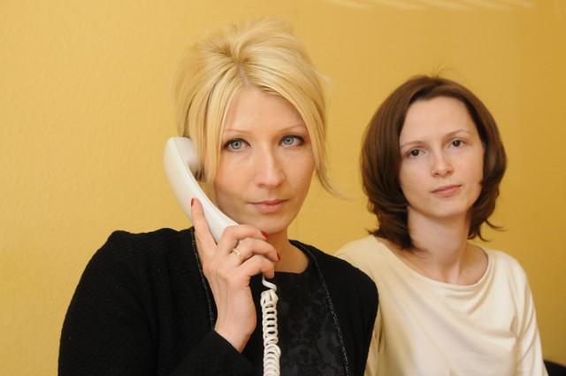 Ewa Kubiak i Katarzyna Orzechowska z firmy windykacyjnej EGB Investments w Bydgoszczy.