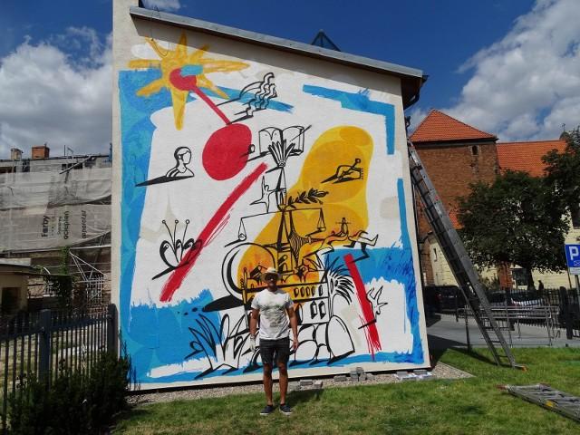 Przy ul. Grudziądzkiej 36 w Chełmnie powstał nowy mural