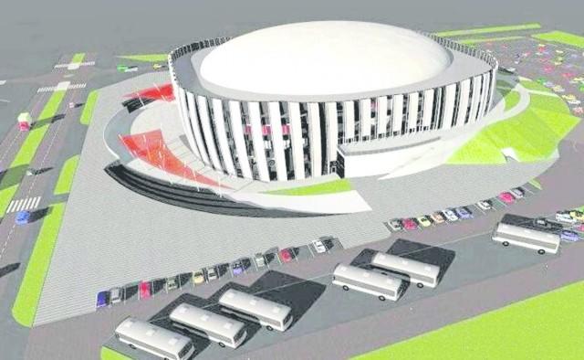 Taki jest projekt, powstał w 2012 roku. Hala miałaby być zbudowana przy ul. Ciołkowskiego w pobliżu Krywlan. Pomieściłaby 5-6 tys. osób. Byłby to obiekt wielofunkcyjny.