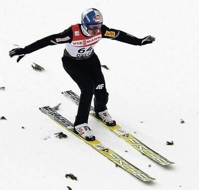 Adam Małysz wczoraj na skoczni w Oslo Fot. PAP/Grzegorz Momot