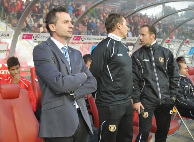 Pawlak w roli tymczasowego trenera Widzewa przegrał 0:1 z Lechem i wygrał 4:1 z Lechią