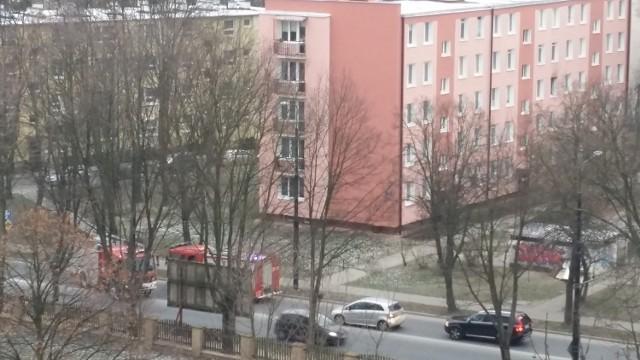 Strażacy na ul. Unickiej