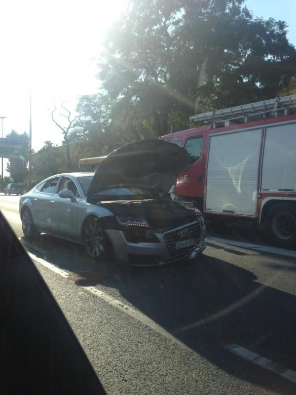 Wypadek na Mikołowskiej w Katowicach 07.08.2015