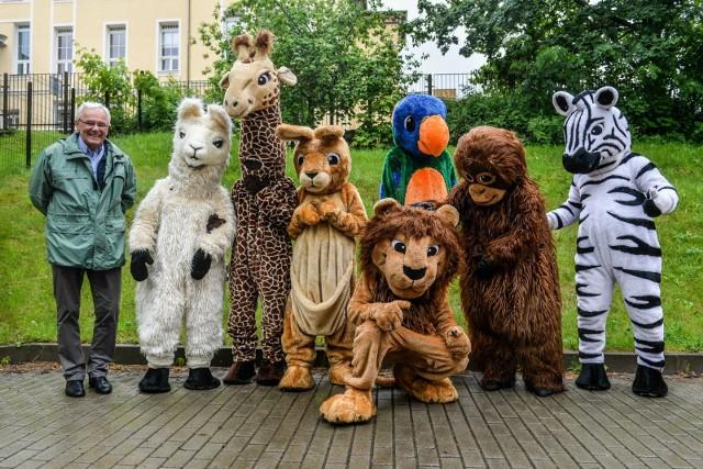 Pluszowe zwierzęta zatańczyły dla małych pacjentów UCK w Gdańsku