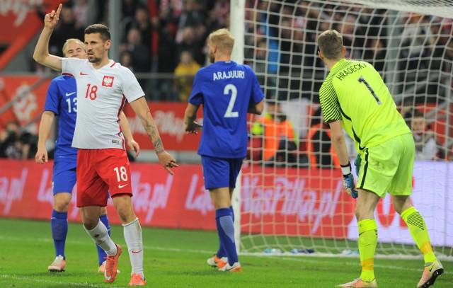Mecz Polska-Finlandia na stadionie we Wrocławiu