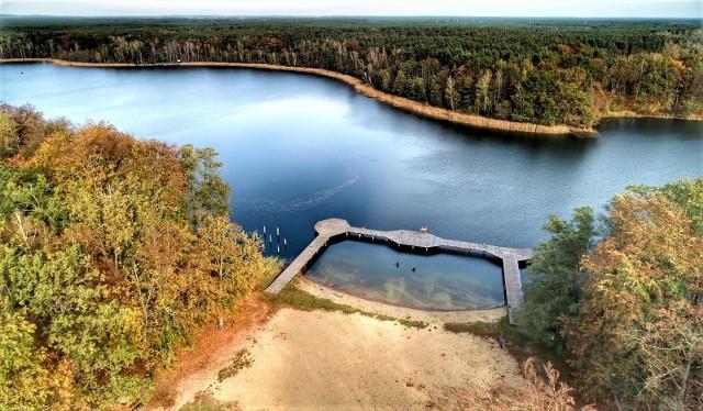 Jezioro Liny (Linie) Duże w obiektywie Grzegorza Walkowskiego