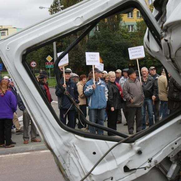 Tak mieszkańcy Augustowa protestowali 17 września.