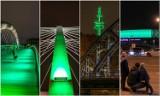 Kraków. Miejskie obiekty zaświeciły się na zielono w Dniu Świętego Patryka [ZDJĘCIA]