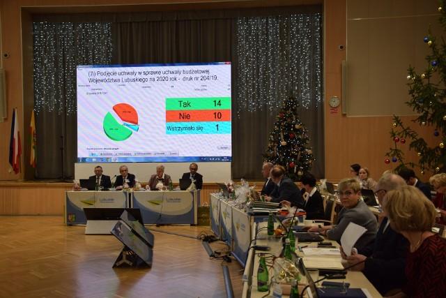 Sesja sejmiku województwa lubuskiego, Zielona Góra, 20 grudnia 2019 r.