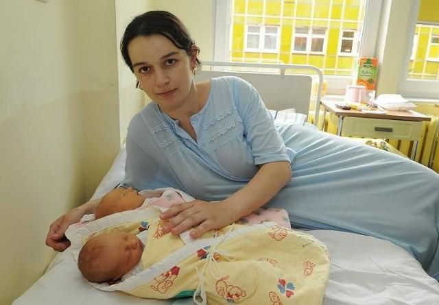 Agnieszka Szpak jest szczęśliwą mamą bliźniaków. Dzieci na świat przyszły w gorzowskim szpitalu.