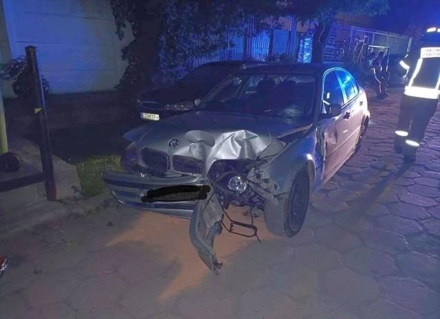 Rozbite BMW w Ełku