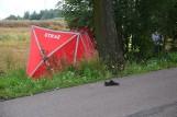 Śmiertelny wypadek w Lubieszewie 21.07.2020. Zginął rowerzysta potrącony przez samochód. Zdjęcia