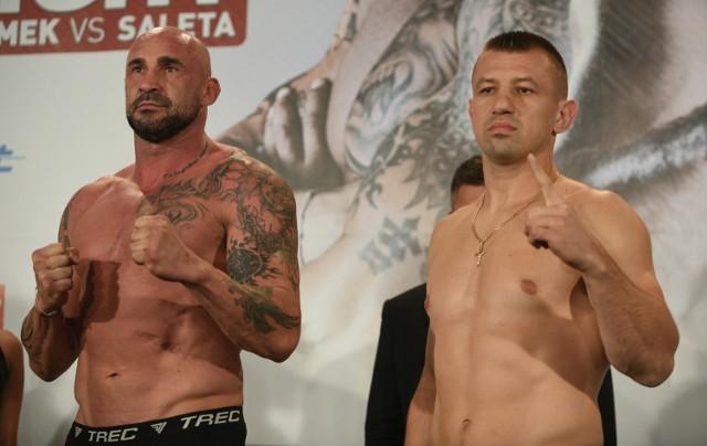 Przemysław Saleta (z lewej) pół roku temu walczył - i przegrał - z Tomaszem Adamkiem
