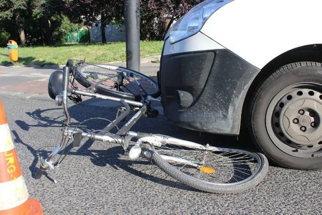 W wypadku na Piłsudskiego ranna została rowerzystka