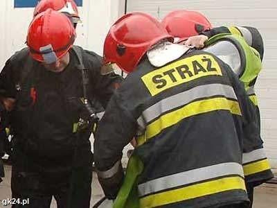 Pożar w Segeer-Dachu w Łebieńcu. Zdjęcie archiwalne.