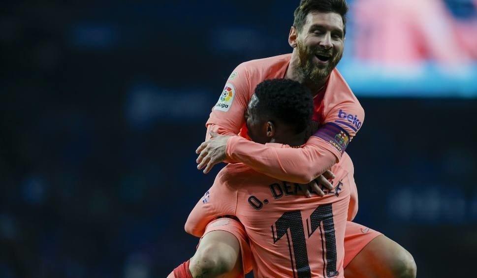 834d37a3c Na zdjęciu: Leo Messi i Ousmane Dembele. Dzięki golom Nelsona Semedo i Leo  Messiego