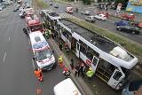 20 rannych w zderzeniu tramwajów na Legnickiej. 12 osób trafiło do szpitala (ZDJĘCIA, FILM)