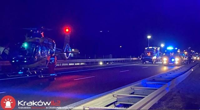 Wypadek na A4 w Krakowie. Utworzył się ogromny korek