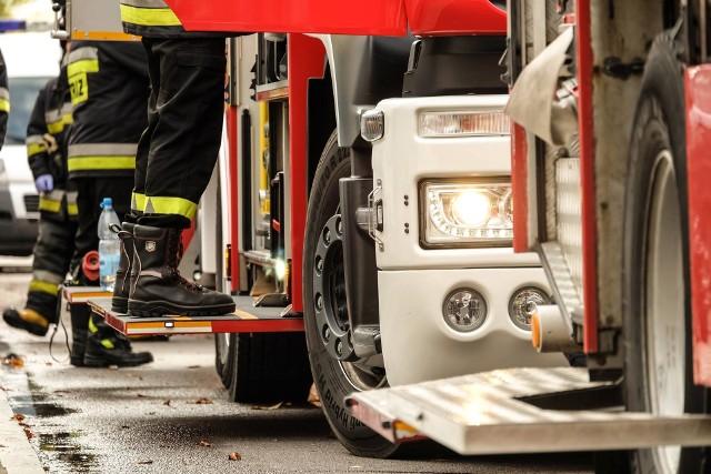 W CynkoMecie w Czarnej Białostockiej przeprowadzono ewakuację po rozszczelnieniu cysterny z gazem