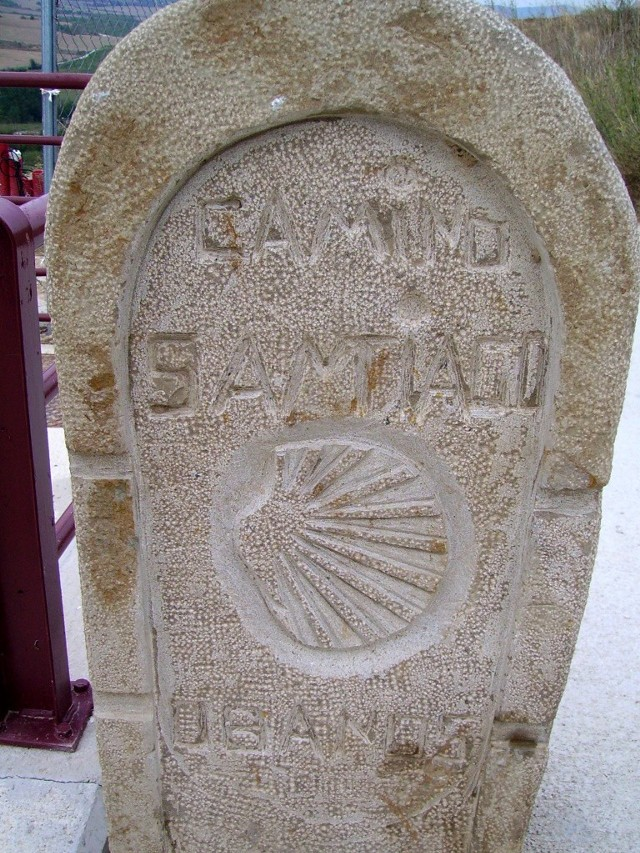 Muszla Świętego Jakuba - znak pilegrzymów idących do grobu apostoła w Camino de Compostella