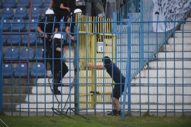 Na trybunach sporo działo się podczas meczu Ruch - Legia.