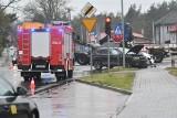 Zderzenie dwóch samochodów na ul. Drzewickiej w Kostrzynie nad Odrą. Jedna osoba trafiła do szpitala