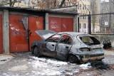 Samochód spłonął w garażu przy ul. Kaliskiej