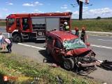 Wypadek na DK 7 pod Michałowcami. Jedna osoba ranna