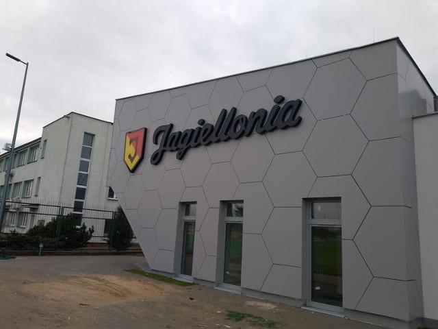 Budynek ośrodka przygotowań Jagiellonii przy ul. Elewatorskiej w Białymstoku