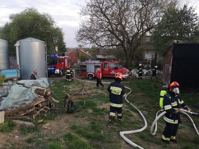 Pożar w Sierosławicach