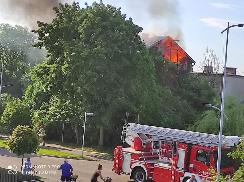 Pożar domu w Pruszczu Gdańskim we wtorek, 8.06.2021 r.!...