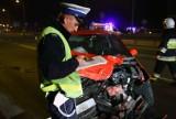 Śmiertelny wypadek pod Piotrkowem Trybunalskim. Nie żyje 18-latka [ZDJĘCIA]