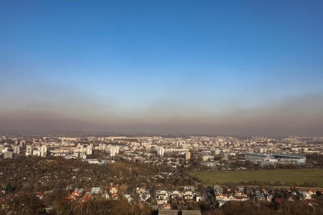 Smog w Krakowie.