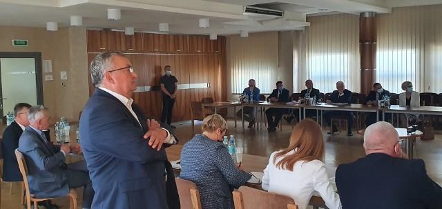 """Spotkanie w sprawie drogi Brzesko - Nowy Sącz, tzw. """"sądeczanki"""""""