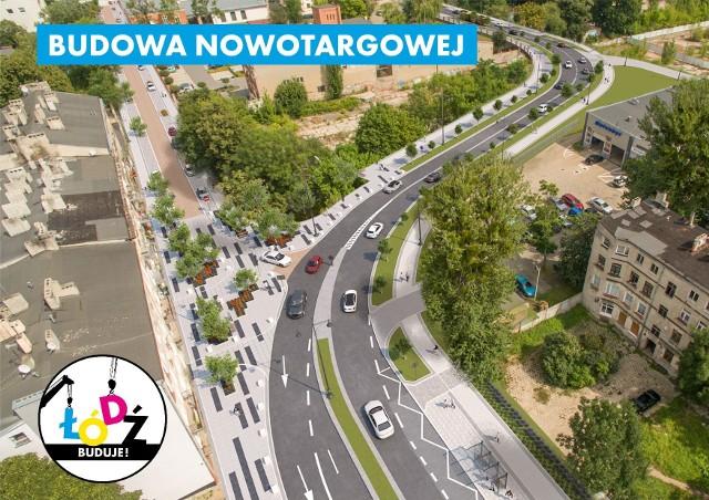 Przetarg na budowę Nowotargowej. Nowa ulica połączy Łódź Fabryczną z al. Piłsudskiego w 2020 roku