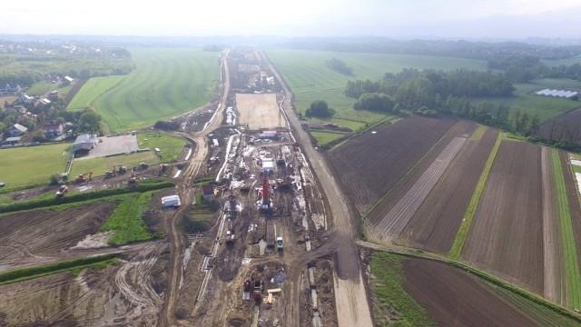 Tak wygląda budowa północnej obwodnicy, z która będzie łączył się odcinek Widoma - Kraków