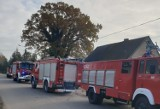 Pożar domu w Kończewicach w gminie Miłoradz. 8.11.2020 r. Na strachu się skończyło, ale strat nie udało się uniknąć