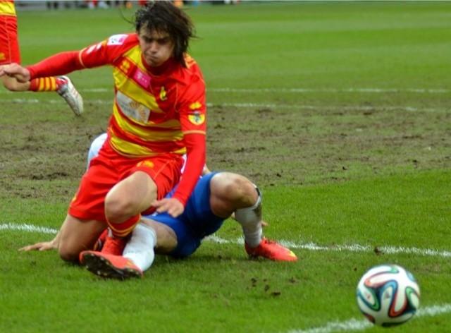 Jagielonia przegrała z Podbeskidziem w ostatnich sekundach meczu
