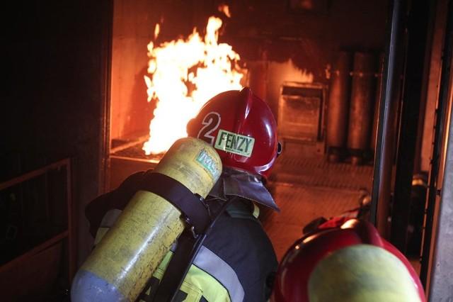 Ćwiczenia rzeszowskich strażaków.