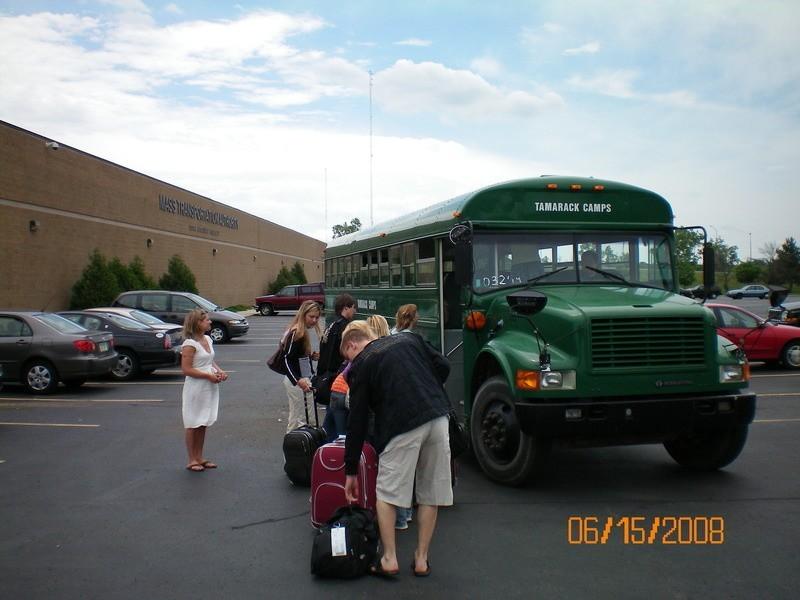 Nasz przyjazd i typowy amerykański szkolny autobus